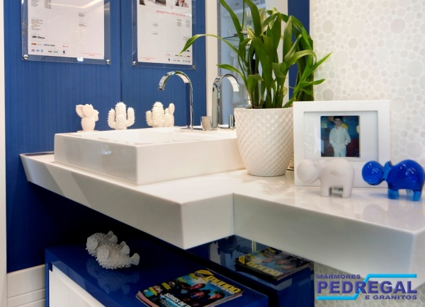 Pedregal Mármores e Granitos  Portfólio -> Nicho Banheiro Marmoglass